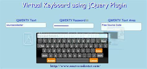 tutorial virtual keyboard virtual keyboard using jquery plugin free source code