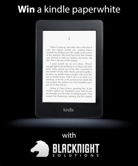 want to win a kindle paperwhite