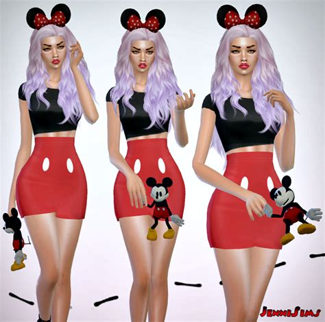Mickey Dress Cc jennisims downloads sims 4 accessory mickey doll right