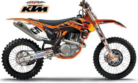 Ktm Factory Graphics N Style 2013 Factory Ktm Team Graphic Kit Bto Sports
