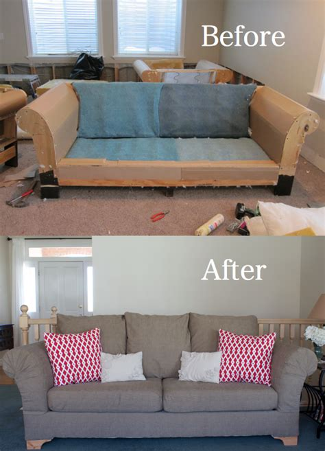 Sofa Recovering by Do It Yourself Divas Diy Fabric From A And
