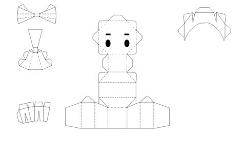 Papercraft Template - chibi animal templates for crafts