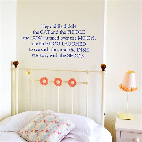 Nursery Rhyme Wall Decals Nursery Rhyme Wall Stickers By Leonora Hammond Notonthehighstreet