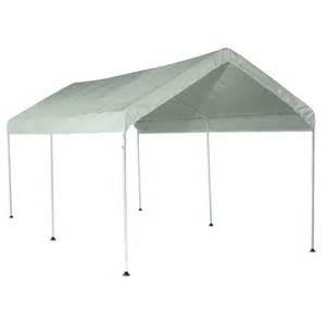 lowes awnings canopies shop shelterlogic 10 ft x 20 ft polyethylene canopy