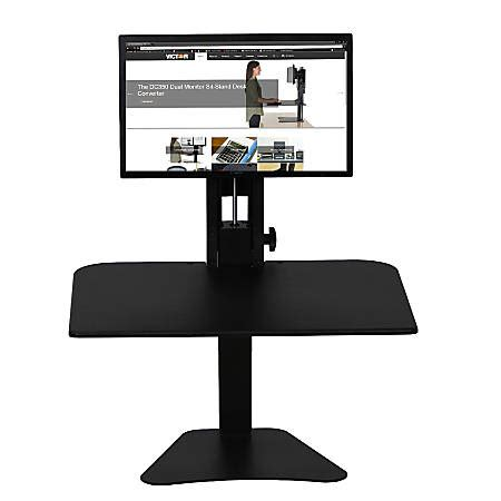 victor sit stand desk victor high rise sit stand desk converter with monitor