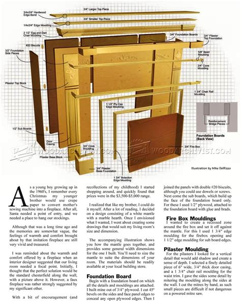 Fireplace Plans by Faux Fireplace Mantle Plans Woodarchivist