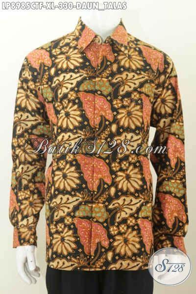 Batik Hem Anak Sabrina Daun batik hem pria proses cap tulis busana batik motif daun