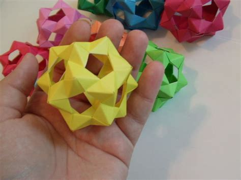 how to make 3d star and balls 30 unit phizz modular origami
