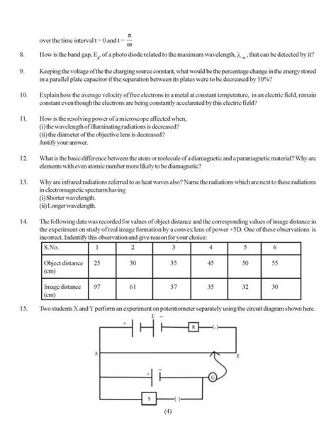 cat paper pattern and marks distribution marks distribution in cbse class 12 for physics 2018