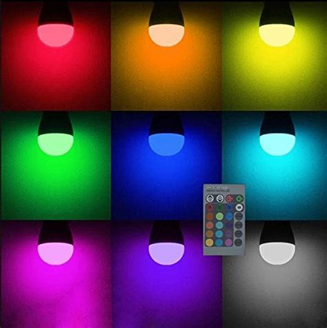 dimmable led l with colour changing base lightahead 174 e27 e26 standard base 16 colors changing