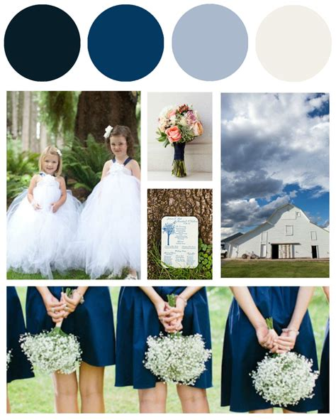 Blue & White Wedding Colors   Preppy Wedding Style