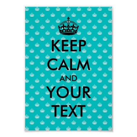 Keep Calm Poster Template With Crown Pattern Zazzle Keep Calm Template