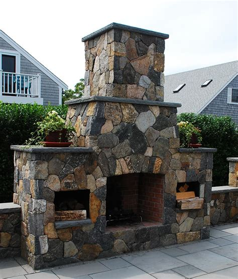 outdoor stone fireplace outdoor fireplaces stone fireplace kits cape cod ma