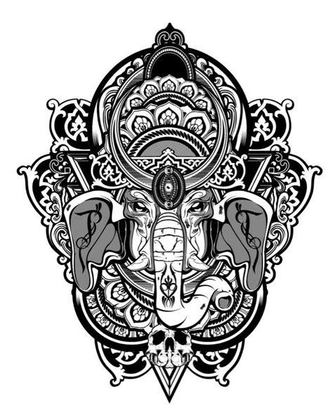 Ganesha Illustration Tattoo | http www hydro74 com lowbrow pinterest