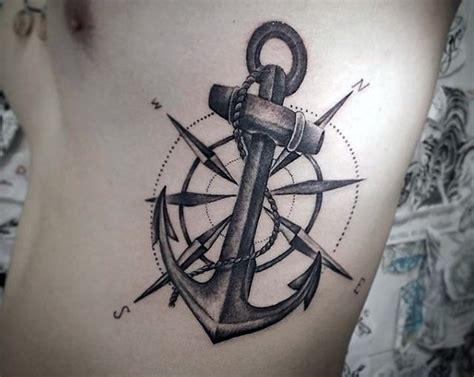 gro 223 er nautischthemenorientierter anker mit kompass tattoo