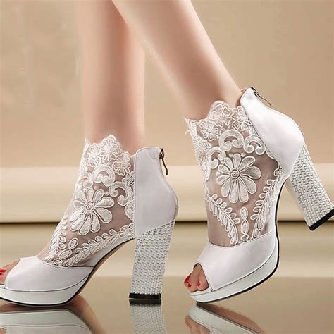 Wedding Shoes And Boots by Popular Lace Bridal Boots Buy Cheap Lace Bridal Boots Lots