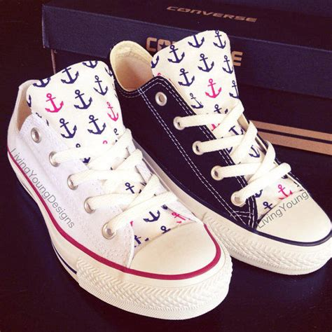 how to design converse shoes at home custom converse low top sneakers anchor from living