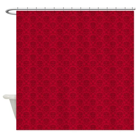 red damask shower curtain red damask shower curtain by youniquelyyouphoto