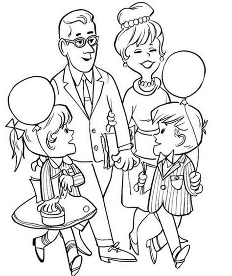 At The Park Colouring Page Family Day Coloring Page Family Day Coloring Pages