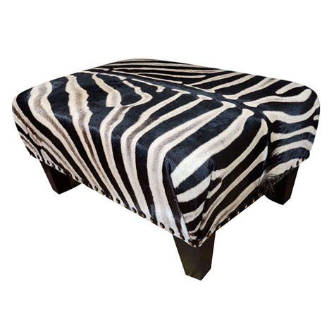 zebra ottoman trophy grade zebra hide ottoman
