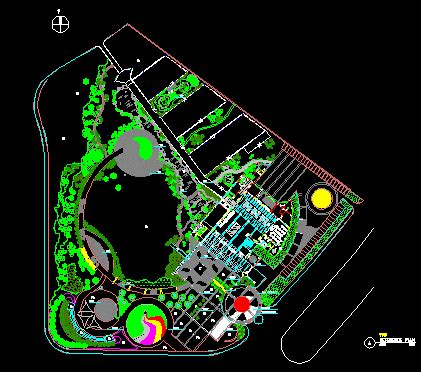 small park dwg plan  autocad designs cad