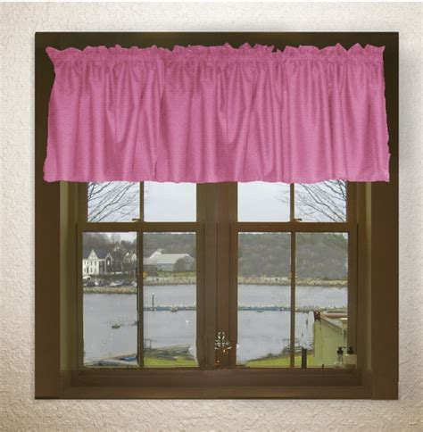 Pink Valance Solid Pink Fuchsia Color Valance In Many Lengths