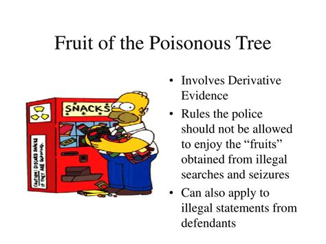 fruit of the poisonous tree ppt exclusionary rule powerpoint presentation id 252723
