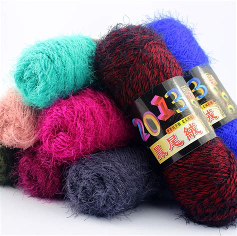 yarn for knitting 5 pcs cheap mohair blended yarn baby knitting wool mink