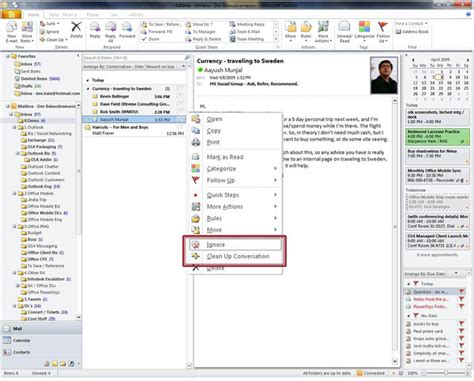 Search All Emails In Outlook 2010 Microsoft Office 2010 Outlook New Signature