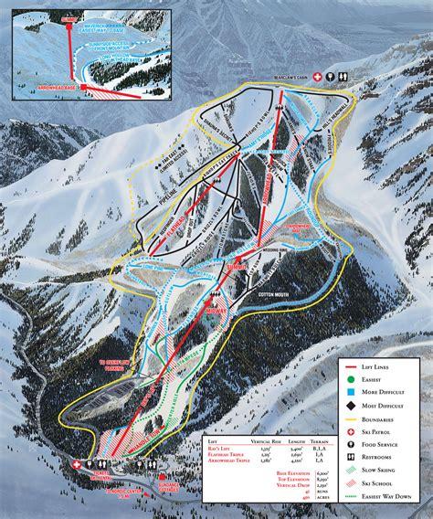 map of usa ski resorts sundance ski map free