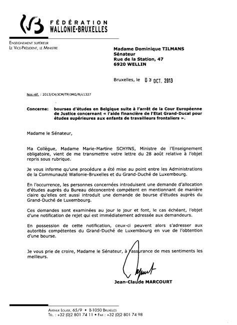 Exemple De Lettre Demande De Bourse étudiant application letter sle modele de lettre demande de