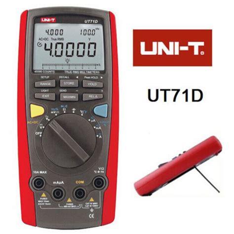 Jual Multimeter Uni T free shipping uni t unit ut71d rms digital multimeter