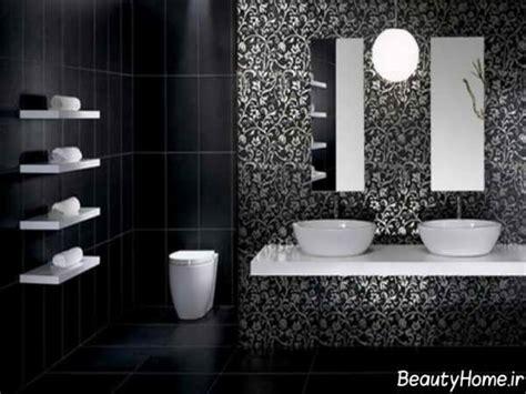 black and white tiled bathroom ideas طرح کاشی جدید و مدرن برای حمام و سرویس بهداشتی و آشپزخانه