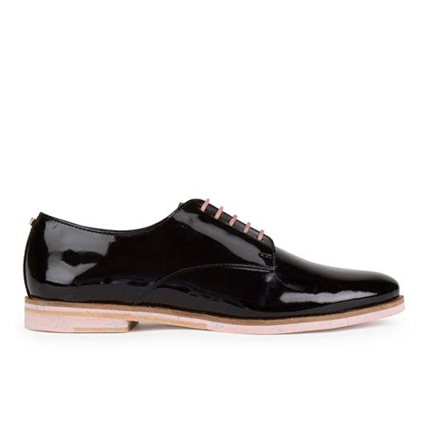 ted baker s loomi patent leather oxford shoes