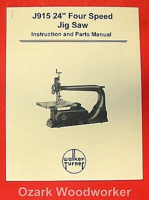 Delta Rockwell Wood Shaper Owners Service Manual Parts