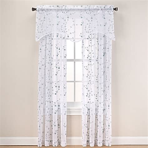 bed bath and beyond curtain panels caspia sheer window curtain panel and valance bed bath