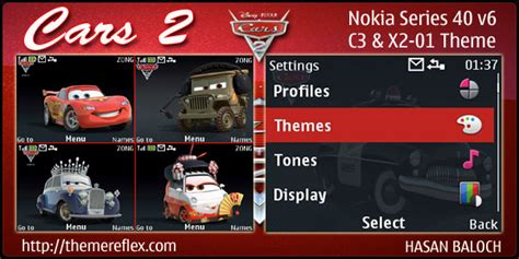 nokia c3 car themes cars 2 animated theme for nokia c3 x2 01 asha 200 201