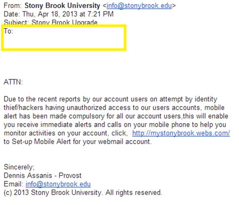 email edu identifying email phishing attempts division of