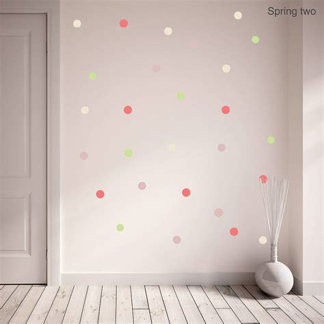 polka dot wall sticker polka dot wall sticker set by oakdene designs
