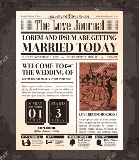Wedding Newspaper Template by 12 Newspaper Front Page Templates Free Sle Exle Format Free Premium