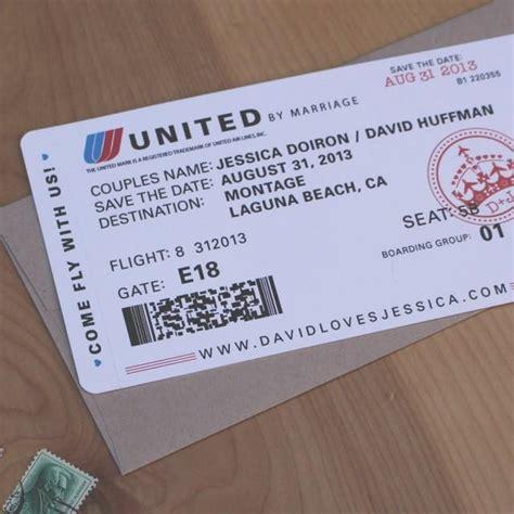air ticket wedding invitation card template airplane ticket save the date destination wedding save