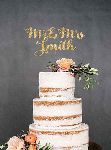 Wedding Cake With Name by Wedding Cake Toppers With Last Names Personalized Cake