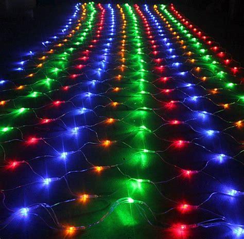 outside multi color led net lights led net