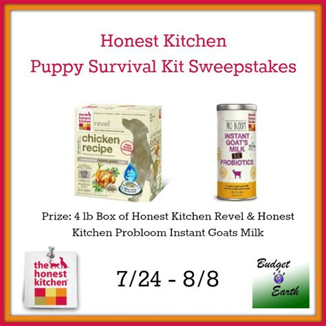 Free Puppy Giveaway - honest kitchen puppy survival kit giveaway it s free at last