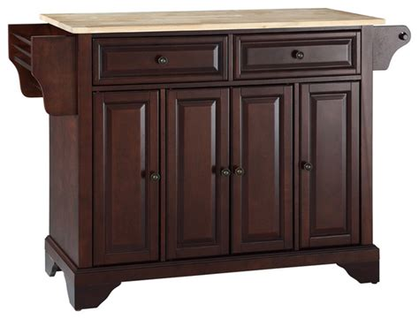 Wood Kitchen Island Cart Lafayette Natural Wood Top Kitchen Island Traditional