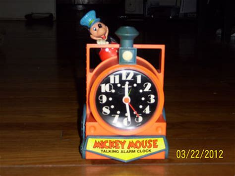 vintage mickey mouse complete working talking alarm clock antique price guide details page