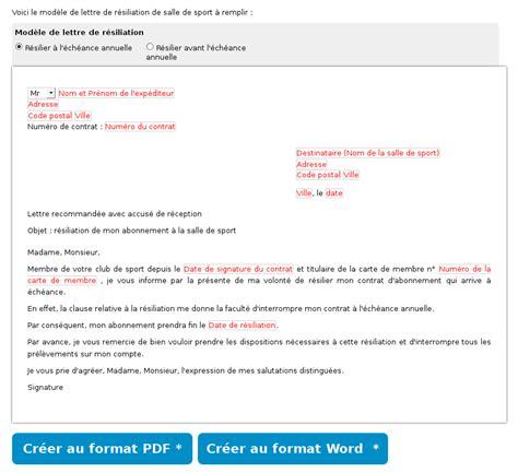Exemple Lettre De R Siliation Orange Mod 232 Le Lettre De R 233 Siliation De Salle De Sport