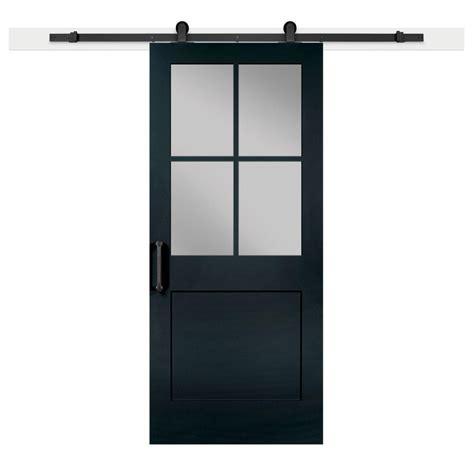 jeff lewis barn doors jeff lewis 36 in x 84 in knight 1 panel 1 2 lite privacy sandblasted glass mdf barn door with