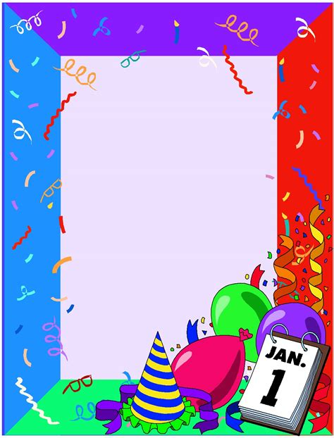 border for new year new year s border clip 36