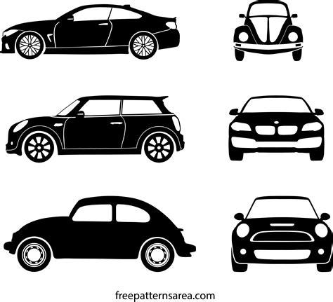 Car Silhouette Illustration Vector Outline Templates Freepatternsarea Car Outline Templates